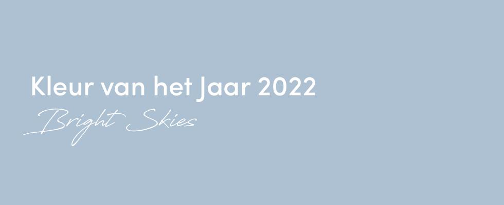 Kleur Van Het Jaar 2022: Bright Skies™